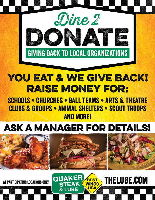 Dine To Donate At the Quaker Steak & Lube Wheeling Restaurant